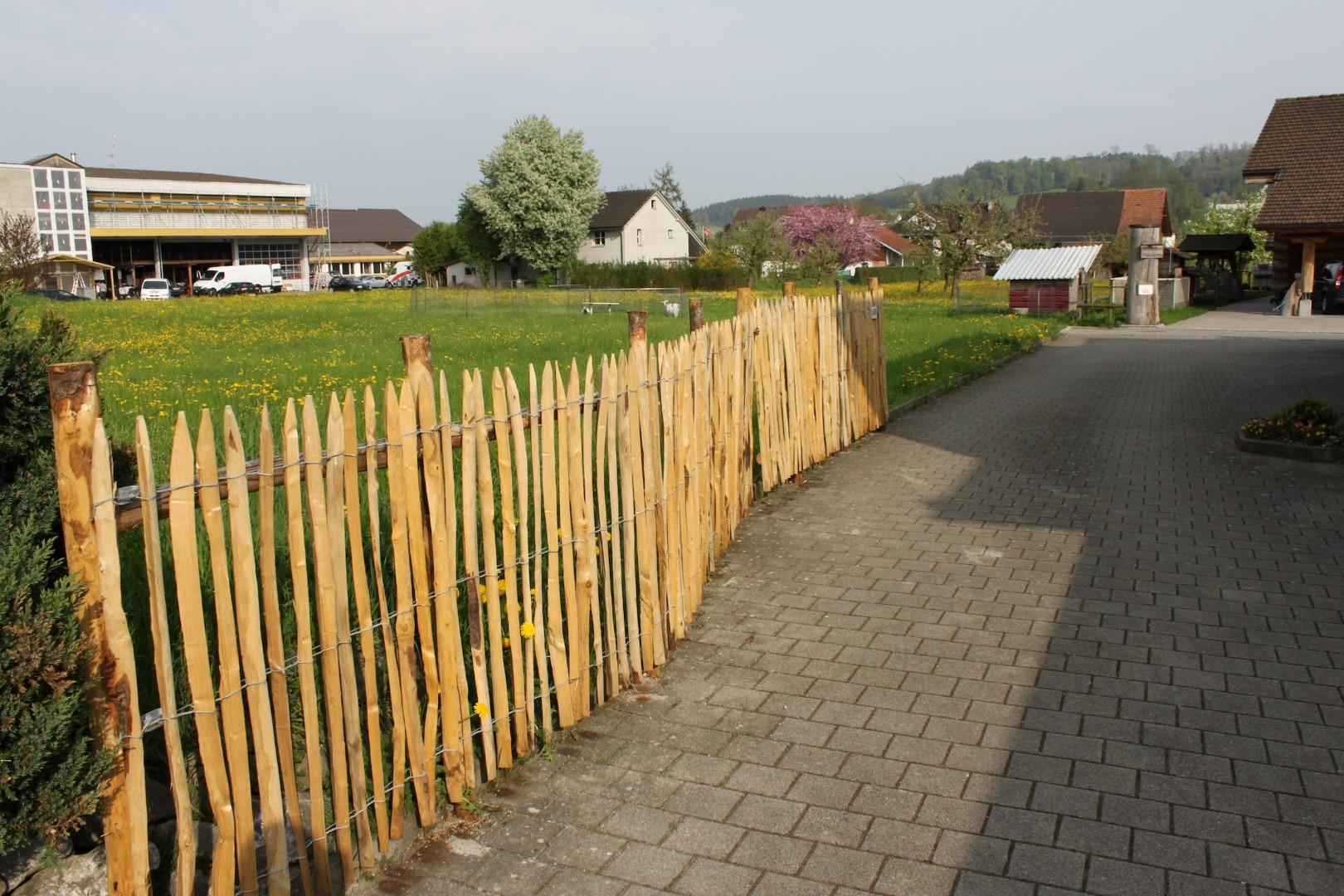 Zaun Aus Franzosischem Kastanienholz